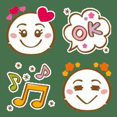 シンプル&使いやすい★顔絵文字 part1