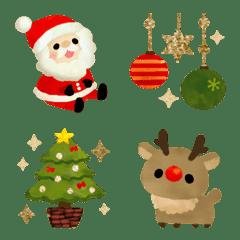 キラキラ可愛いクリスマス絵文字