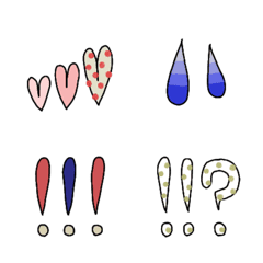 大人可愛いハート、汗など使える絵文字 2
