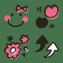 シンプル★ピンク・ブラック