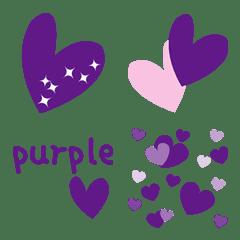紫のハートがいっぱい