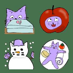 弁当が好きすぎる猫~冬絵文字~
