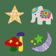 エスニック Emoji 4 グリッター