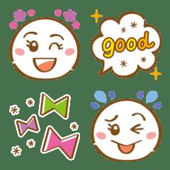 シンプル&使いやすい★顔絵文字 part2