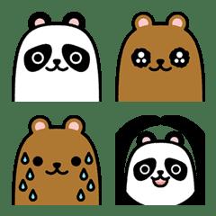 ☆パンダとヒグマの絵文字☆