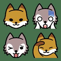 ☆キツネとオオカミの絵文字☆