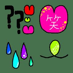 ぽぽぽの手書き日常カラフル絵文字2