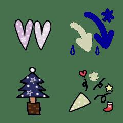 大人可愛い冬の絵文字