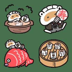 餃子のたぬきの絵文字 冬編