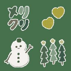 くすみカラーのgreenクリスマス