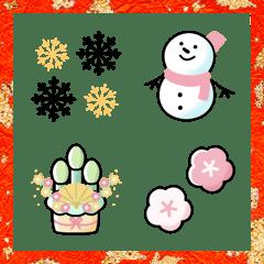 シンプル 冬 絵文字