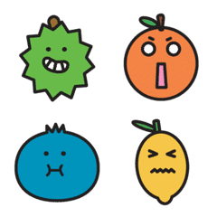 Cute Cartoon Fruit Emoji