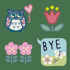 北欧風の春の絵文字