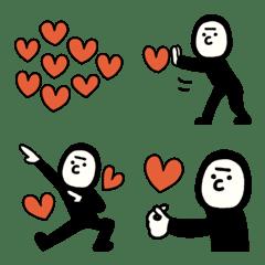 愛を伝えるタイツマンの絵文字