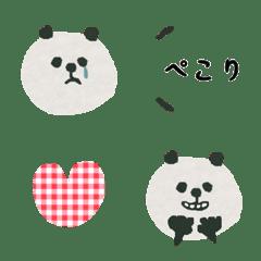 貼り絵パンダ♡絵文字