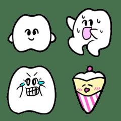 歯のマンガ絵文字
