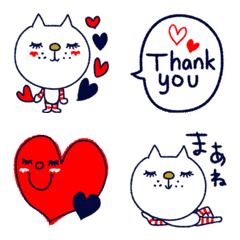大人ネイビー♡しましまのネコ