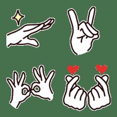 手のシンプル絵文字