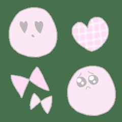 ピンクな丸い顔 絵文字