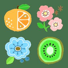 北欧風・花や果物 大人かわいい絵文字