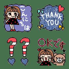 (色んな絵文字セット62大人可愛いシンプル)