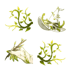 Ever green emoji set
