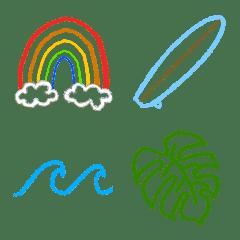 サーフっぽ 絵文字