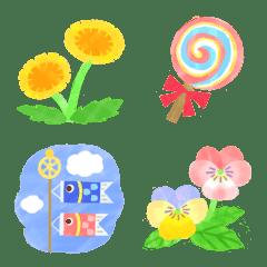 季節を感じる春の絵文字