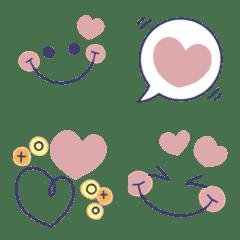 くすみピンク♡気持ちを伝える絵文字