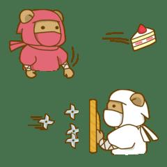 投げるカラフルな忍者
