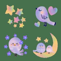 ♢♡星と月と小鳥♡♢