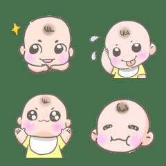 かわいい赤ちゃんももまる絵文字