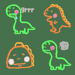 恐竜のシンプルな絵文字