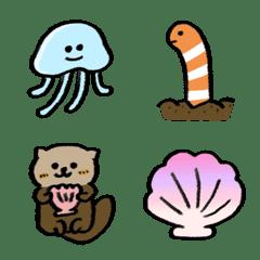 いろんな海の生き物絵文字