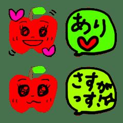 使いやすくてかわいいりんごちゃん絵文字