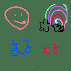 3歳児の落書き