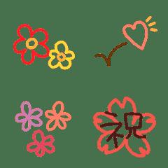 春に使える基本絵文字