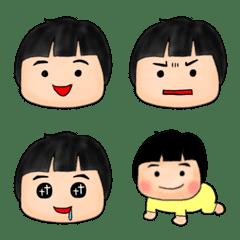 おかっぱ赤ちゃん*顔絵文字