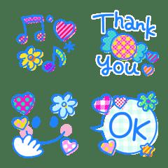 可愛く使える emoji♡爽やかブルー*。*