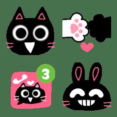 クロたまにカラフル♡ネコとウサギ