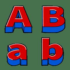 ブロックバスター文字風のデコ文字