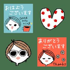 ショート女子STYLE♡ 敬語ミニスタンプmix