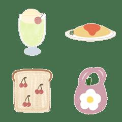 えかきのまる/食べものの手描き絵文字