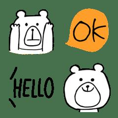 シンプルなクマさんの絵文字2