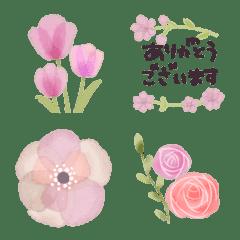 ♡大人の女性✳︎お花の挨拶絵文字Ⅲ♡