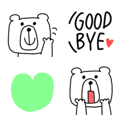 シンプルなクマさんの絵文字3