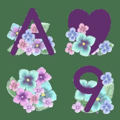 紫陽花絵文字 アルファベット大文字