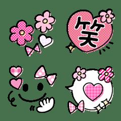 可愛く使える emoji♡ピンク×黒*。*