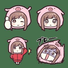 ジャージちゃんの絵文字4(子豚)