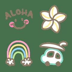 かわいい♥ハワイアンな絵文字 2